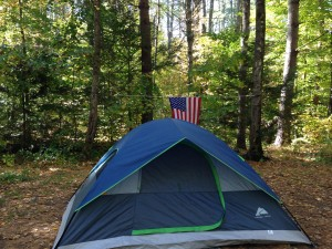 Tent  American Flag It's Tradition
