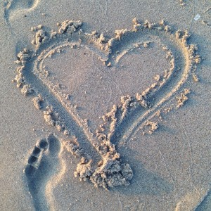 Heart in the Sand - Holland Michigan