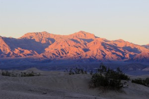 Death Valley Sunset from Dunes website