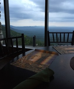Dinner View Mount Cheaha State Park Alabama