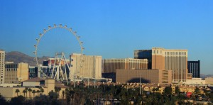 Vegas view via Hard Rock Hotel and Casino room website