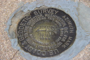 Survey Marker Haleakala National Park Hawaii