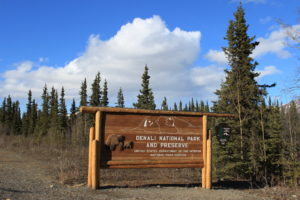 Denali National Park and Preserve Sign